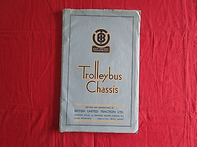 grand catalogue complet A-E-C LEYLAND Trolleybus Chassis 1950