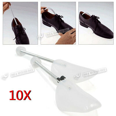 10 x PAIR SHOE TREE TREES PLASTIC MAINTAIN SHAPE OF SHOES FOOTWEAR ONE SIZE UK
