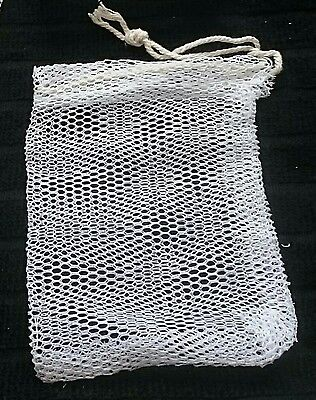 3 x  REPLACEMENT CRAB LINE BAIT BAGS FISHING CARP MESH NETTED BAG