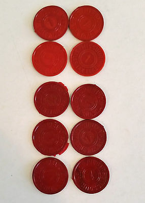 10 Red Missouri State Sales Tax Tokens