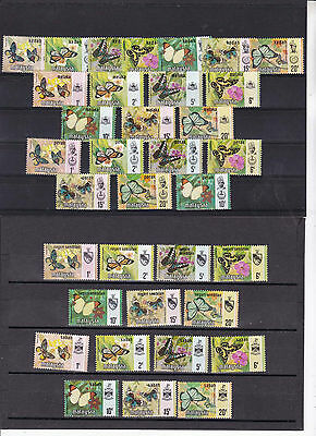 malaysia 1971 12 sets,from various native states.      h1910
