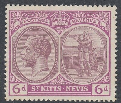 St. Kitts 30 1920  Mint   Hinged Og * No Faults Extra Fine !