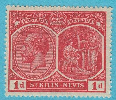 St. Kitts 25 1920  Mint   Hinged Og *  No Faults Extra Fine !