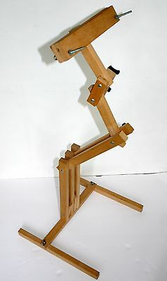 Wood adjustable floor stand good 4 embroidery quilting, cross stitch holds hoop