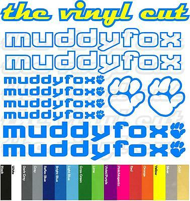 stickers, cycling, mtb, bmx, road, bike Muddyfox T2 Die-cut decal sheet.