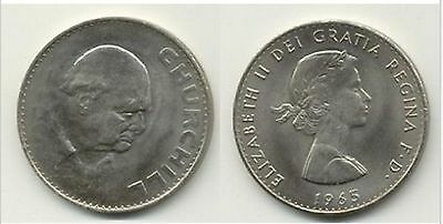 Lot of 5.. 1965 Great Britain  Crown Large Coin Winston Churchill Churchhill