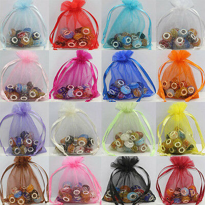50/100pcs  Organza Wedding Xmas Party Favor Gift Candy Bags Jewellery pouches OZ