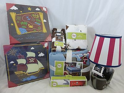 11 pc Circo Pirate Adventure Collection Complete Full Quilt Bed Set NIP