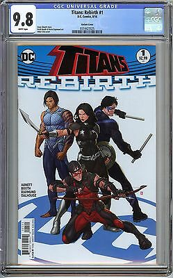 Titans: Rebirt #1 CGC 9.8 NM/MT DC Comic Variant Cover Donna Troy Arsenal Abnett