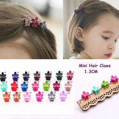 Lot MultiColor Baby Girls Kids Sweet Flower Mini Hair Claws Clips Clamps Hairpin