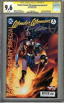 Wonder Woman 75th Anniversary Special #1 CGC 9.6 NM+ SIGNED JIM LEE DC Comics