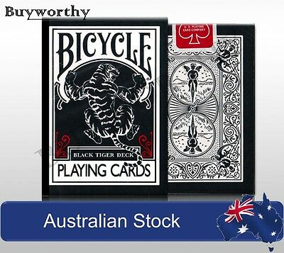 Black Tiger Playing Cards Red Deck Poker Magic Ellusionist Made in USA