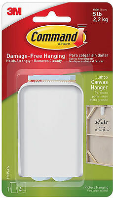 COMMAND 17045-ES Self Adhesive Canvas Hanger JUMBO -Strong,Holds up to 2.2Kg/5lb
