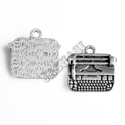 981 6 Book Read Reading Words Antique Silver Charms Pendants 22mm x 25mm