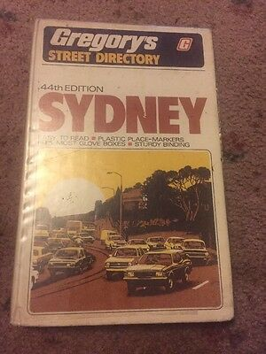 VINTAGE 44th EDITION, GREGORY'S SYDNEY STREET DIRECTORY 1979