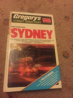 VINTAGE 46th EDITION, GREGORY'S SYDNEY STREET DIRECTORY 1981