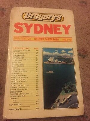 VINTAGE 48th EDITION, GREGORY'S SYDNEY STREET DIRECTORY 1983