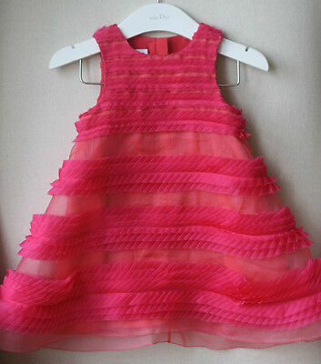 Baby Dior Fuchsia Ruffle Dress And Bloomers 18 Months