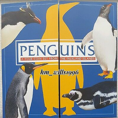 2017 Fifty Pence 50p Falkland Islands Penguin Album
