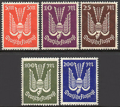 GERMANY REICH 1923 Airmail / Wood-Pigeon Issue Fine MINT NH Set SG.269/73 -- MNH