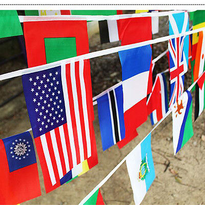International 100 different countries String Flags Dacron Banner Home Decor hot