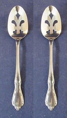 SET OF TWO - Oneida Stainless WHITTIER Slotted Serving Spoons