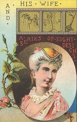 Victorian Tradecard Allyn Blanchard & Latimers CONN COFFEE A Series of 8 Designs
