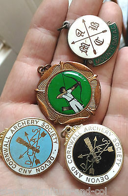 4 Vintage Westcountry Archery / Bowman Medals  - Free Uk P&p