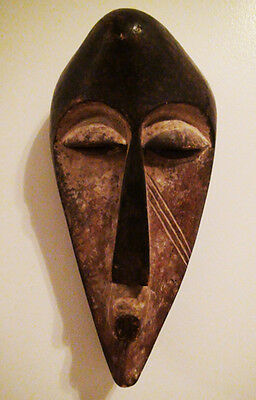 Gabon: Old & Tribal used African Mask from the Fang