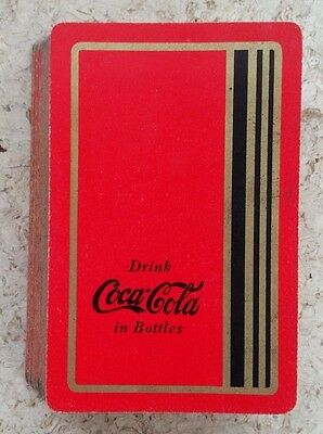#26 - 1930s Coca-Cola Deck of Playing Cards - Red with Gold Bars!!