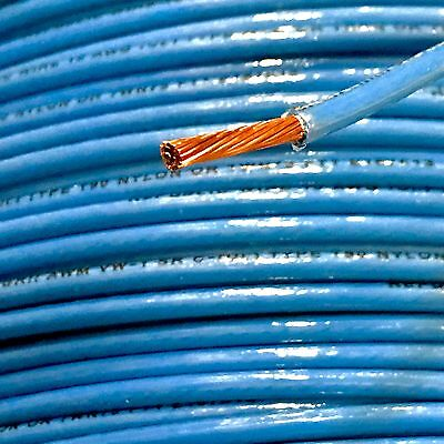 100' Thhn 10 Awg Gauge Blue Nylon Stranded Copper  Building Wire