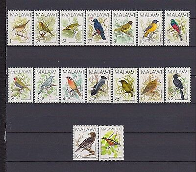 s16521) MALAWI MNH** 1988 Definitives, birds (15v + 10k) 16v