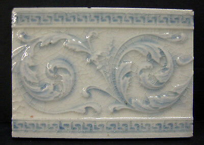 Decorated Antique Victorian Tile by Providential
