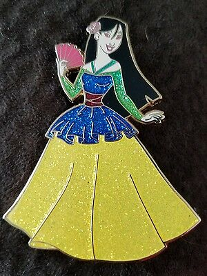 DISNEY PIN FANTASY LE 50 PRINCESS Mulan BALLGOWN BEAUTY GLITTER