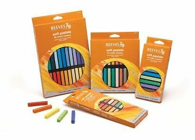 Reeves Soft Pastels Set - Square Sticks - 12 Set or 24 Set or 36 Set