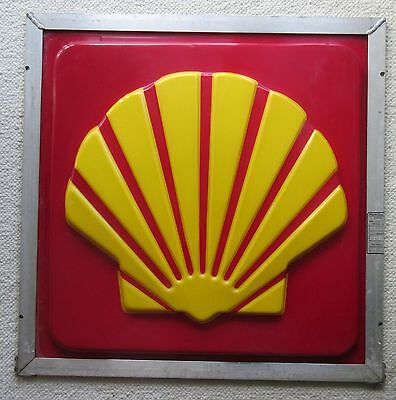 """Vintage Shell Oil Gas Station Advertising Sign 26""""x26"""""""