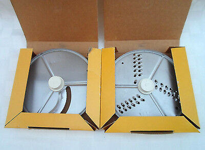 ROBOT COUPE BLADE 27566 SLICING PLATE 4 mm R211 & 27577 GRATING PLATE 4 mm R209