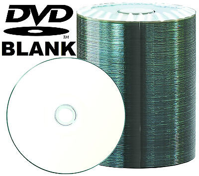 BULK DVD-R/DVDR Blank Disk/Disc PLAIN WHITE INKJET PRINTABLE SURFACE SPINDLE