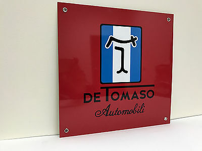 Detomaso automobili pantera mangusta metal garage sign de tomaso reproduction