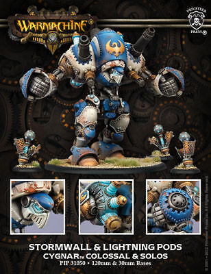 Warmachine Cygnar Stormwall amp Lightning Pods Colossal amp Solos PIP31050 NEW