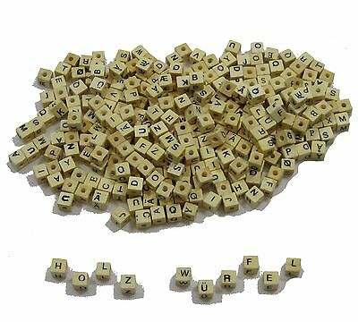 Wooden Beads ABC 300 Pieces Letter dice Nameskette Beads 2470690