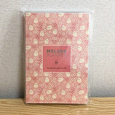 """Molang Planner Planners Ver.1 (2016~2017) Kawaii Cute Rabbit Undated Diary 4.9"""""""