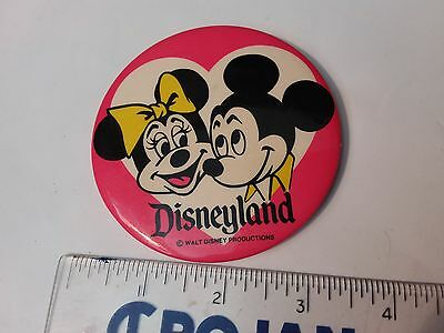 Mickey Mouse And Minnie Mouse Button