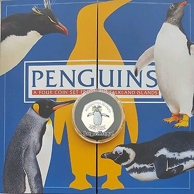 2017 Fifty Pence 50p Falkland Islands Penguin Album Inc ERROR Rockhopper