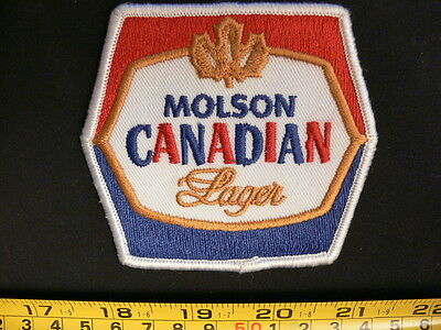 Embroidered patch Molson CANADIAN logo vintage Canada beer molsons NOS