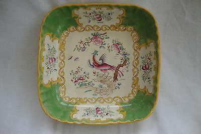 ANTIQUE 19thC MINTON SHALLOW BOWL RETAILED T.GOODE LONDON COCKATRICE PAT C4545