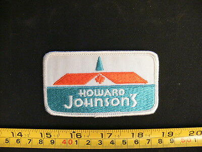 Embroidered patch HOWARD JOHNSON'S vintage 1970's exceptional quality HoJo rare