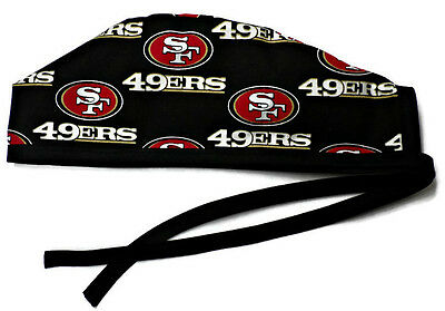 Men's Unlined Surgical Scrub Hat  in San Francisco 49ers