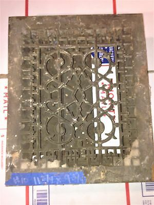 Antique Salvaged Vintage Floor Wall Grate Heat Return Register Vent  #v4