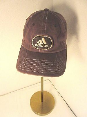 ADIDAS BROWN CAP Hat A Flex Ratty Edge Size L XL Embroidered ... 6fa67ee11f7